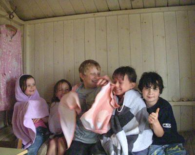 Inside-hut