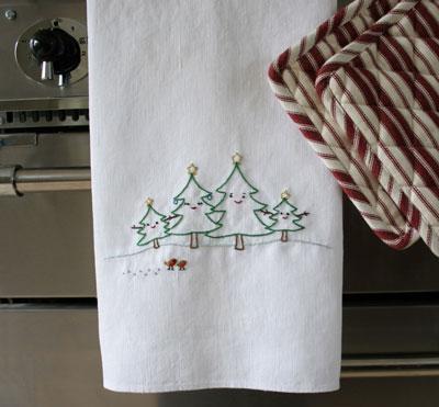 The Tree Family Christmas Embroidery Nini Makes