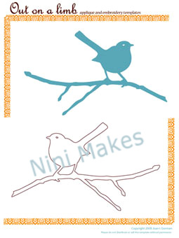 BIRD APPLIQUE PATTERNS - FREE PATTERNS - PAISLEY PATTERN