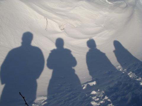 Snow-drift-silhouette