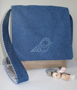 Finished blue bag