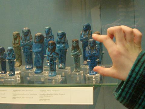 Blue-shabtis