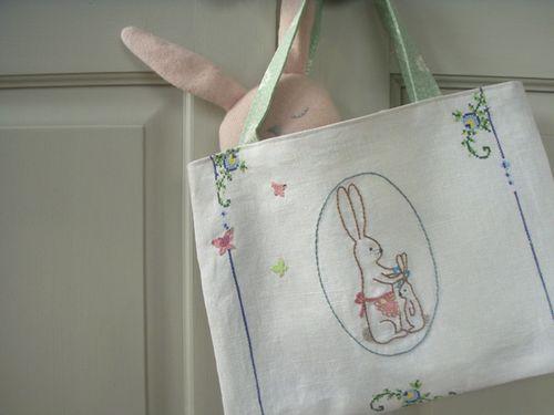 Bunny-on-a-bag