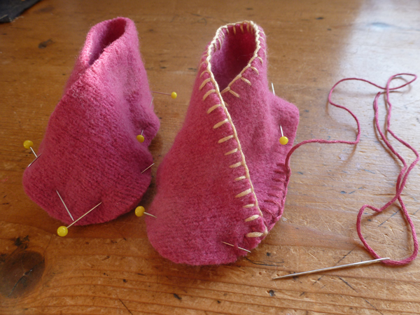 Purl Bee Booties WIP