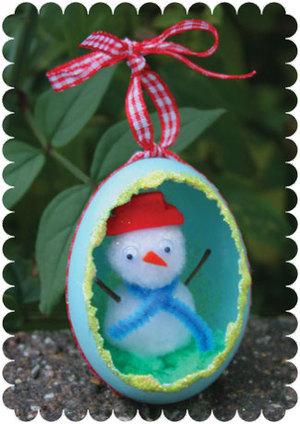 اشغال يدويه و فنيه للاطفال snowmanframed_2.jpg